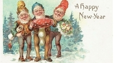 Новый год и гномы: подборка открыток XIX–XX вв.