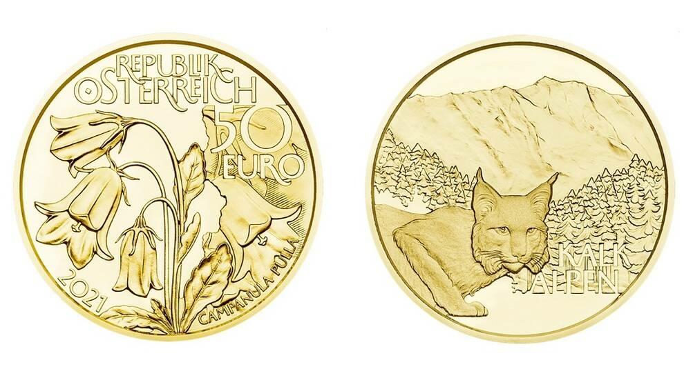 Золотая австрийская новинка для нумизматов: парку Калькальпен посвятили монету