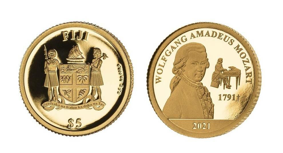 К 230-летию со дня загадочной смерти Моцарта выпущена золотая монета