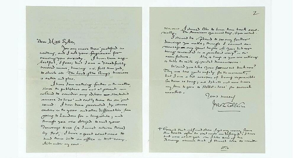 Правильные хоббиты: на аукционе продано письмо Толкина с описанием маленького народца