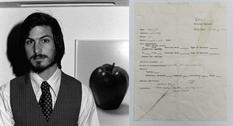 Искал работу: на аукционе продадут заявление молодого Стива Джобса