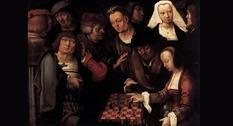 Шахматы в живописи: настольная игра на картине ван Лейдена