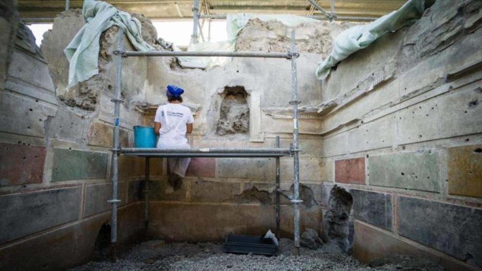 Роскошная вилла с редким украшением была обнаружена в Помпеях