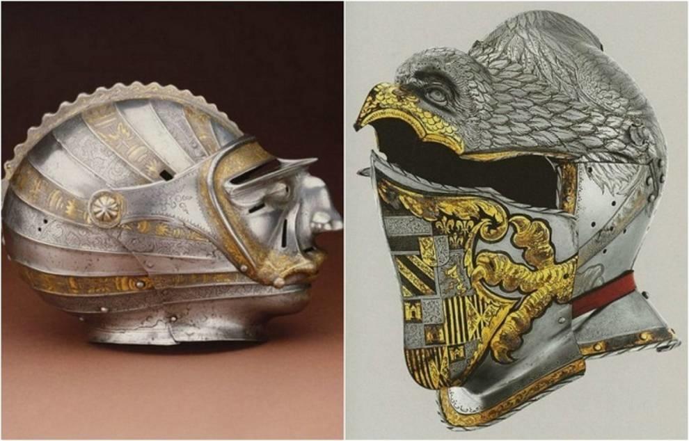 Рыцарские шлемы позднего Средневековья: подборка фотографий