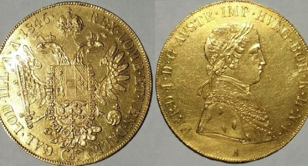4 дуката, 1846 год, Фердинанд