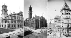 Здания почты США на фото начала XX века