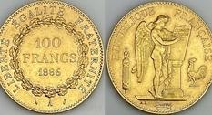 100 франков, 1886 год, «Золотой ангел»
