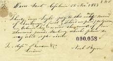 Ценный документ: в архиве обнаружили чек Байрона на сумму 4 тыс. фунтов