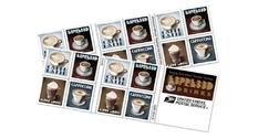 Новые апрельские марки США посвятили кофе