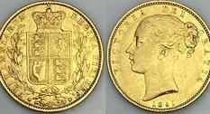 1 фунт (соверен), 1851 год, Великобритания