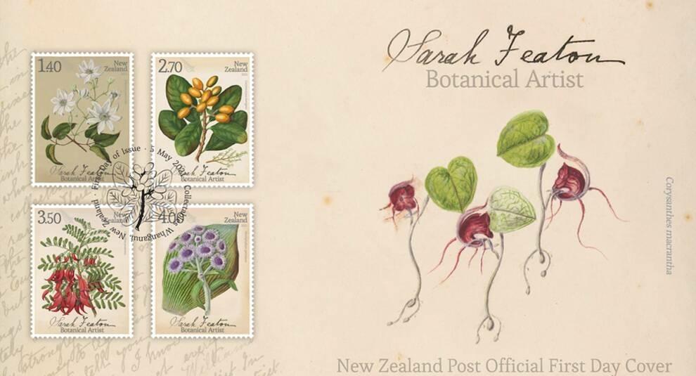 Рисунки растений Сары Энн Фитон: Новая Зеландия выпустила новые марки