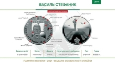 A coin was issued for the birthday of Vasily Stefanik