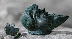 В Иерусалиме обнаружена лампа в виде половинки лица