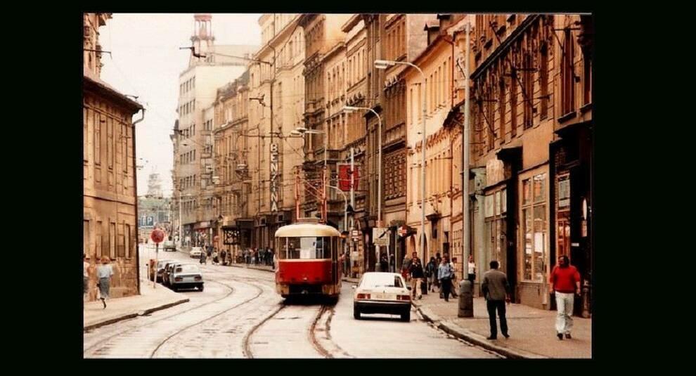 Улицы Праги в 1980-х годах