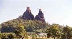 Крепость в Чехии: руины Троски