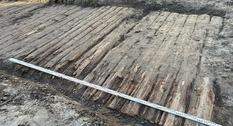 В Польше обнаружена старинная деревянная дорога