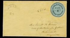 Уникальная марка XIX века: «Голубая Александрия»