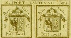 «Двойная Женева»: редкая делимая марка