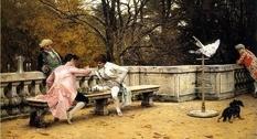 «Игра в шахматы на террасе»: картина, прославившая Шарля Барга