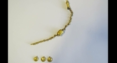 A gold necklace was found among the ruins of an ancient Roman bath in Bulgaria