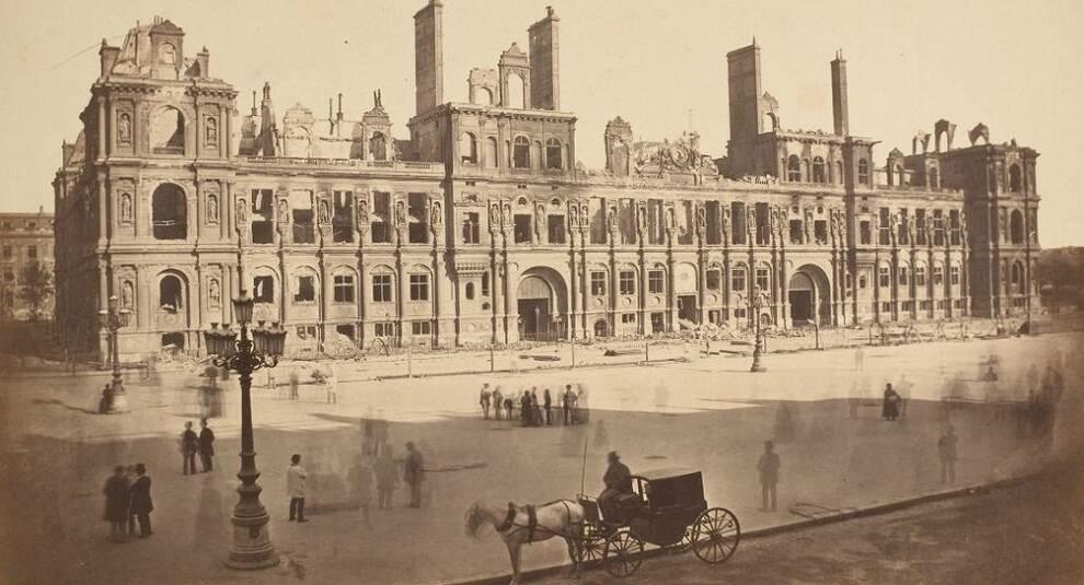 Фото последствий осады Парижа во время Франко-прусской войны