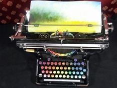 The Chromatic Typewriter is a special modification of typewriters that was created to draw