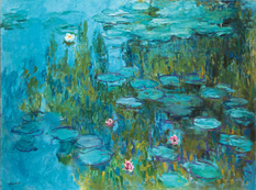 """How does Claude Monet write from nature his """"Water Lilies""""?"""