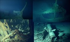 How were the remains of the Titanic found?