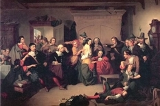 The Salem events began with accusations of servant witchcraft
