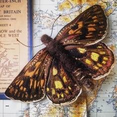 Textile butterflies by Heather Everitt
