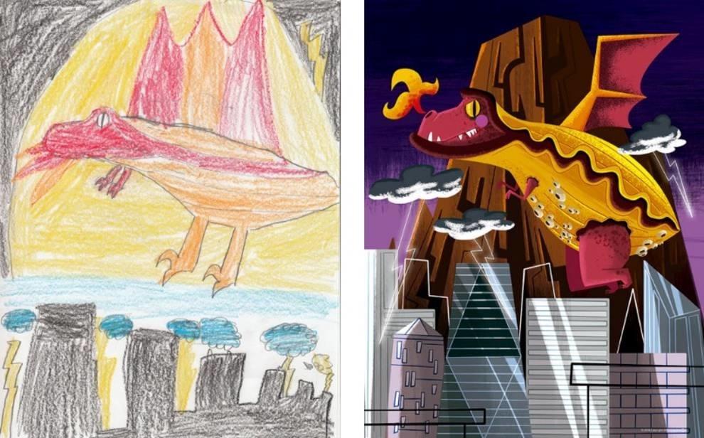 Проект монстр: художники создают картины из детских рисунков (ФОТО)