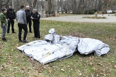 Аварийный надувной трап приземлился на задний двор американской семьи
