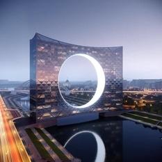 «Башня солнца»: архитекторы подготовили проект футуристичной конструкции на реке (Фото)