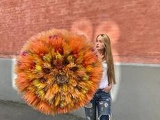 Цветочное хобби: датская художница создает объемные растения из тонкой оберточной бумаги (Фото)