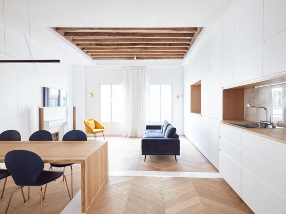 Студия дизайна JCPDR оригинально обновила старую квартиру в центре Парижа (Фото)