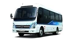 Цифровая приборная панель, мультифункциональный руль и «умный» ключ — новый электроавтобус от Hyundai