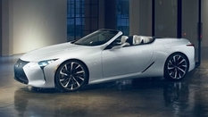 Lexus LC turned into a convertible
