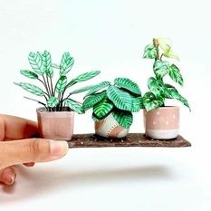 Художница из Великобритании создает миниатюрные копии комнатных растений (Фото)