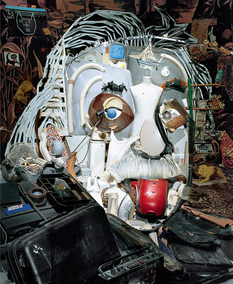 Анаморфные портреты-современное искусство от Бернара Праса