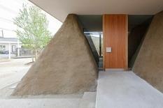 Японские архитекторы использовали землю для стен домов
