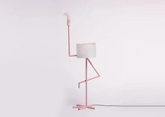 Lamp-flamingo, which can be used as a table