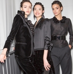 Black velvet: costumes and dresses by Giorgio Armani