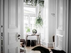 Summer interior in Scandinavian apartment