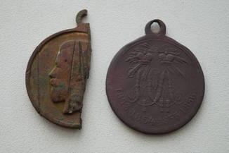 """Медаль за крымскую войну 1853-1856 + бонус часть медали """"за выполнение мрбилизации"""""""