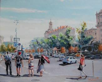 """Картина """"Киев, лето"""" холст, масло. Микитенко Виктор"""