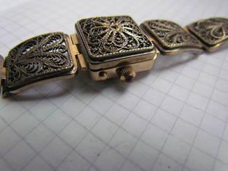 Часы Чайка 1601 скань позолота