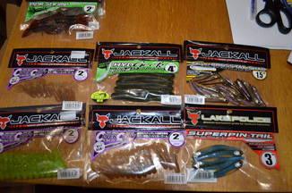 Набор съедобного силикона Jackall (JAPAN) 6 пачек