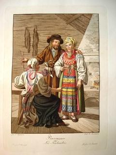 Гравюра 1812 года : Финляндцы