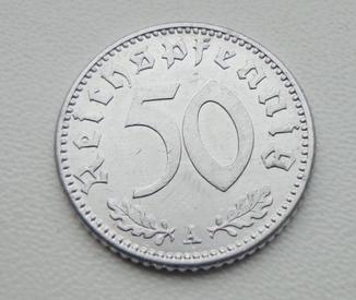 50 пфеннигов 1942 сколько стоят золотые червонцы николая 2