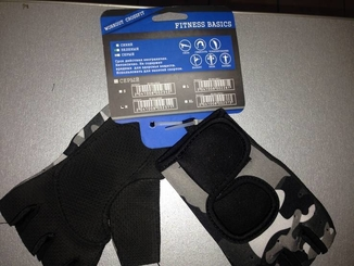 Перчатки без пальцев Fitness Basics M